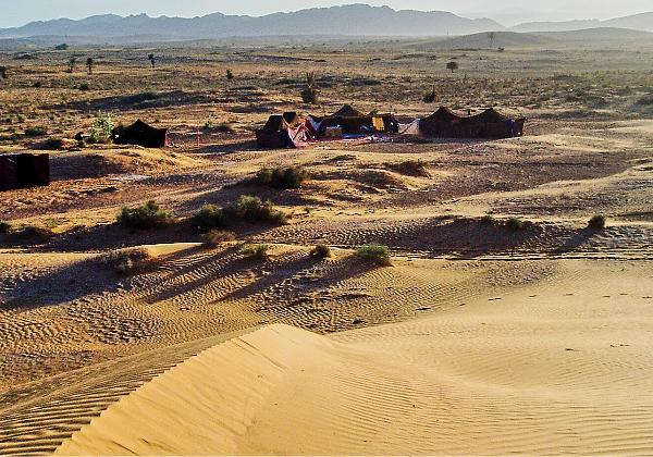 TDS Voyage - Tourisme équitable et solidaire - Maroc - Dunes de Rasmouka - Bivouac