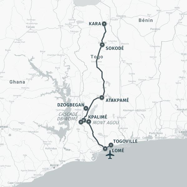 Carte séjour la traversée du Togo