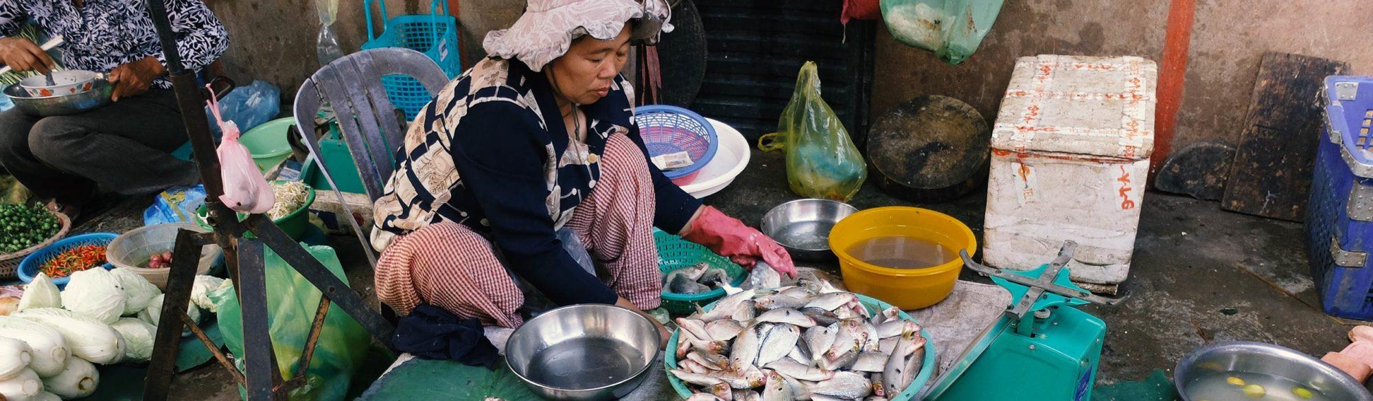 Le marché de PHNOM PENH