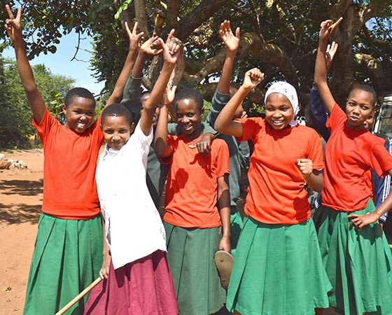 L'école du village d'accueil en Tanzanie