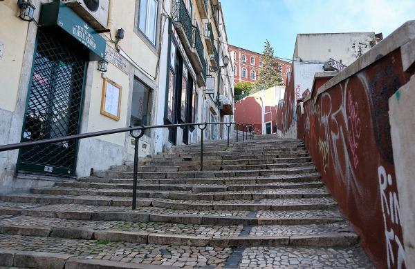 TDS Voyage - Tourisme équitable et solidaire - Lisbonne - Escaliers